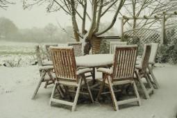 Terrasse Schnee