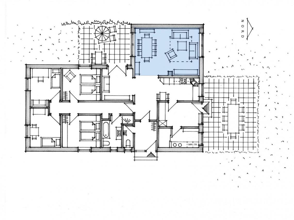wohnzimmer grundriss ferienhaus familientreff ostsee. Black Bedroom Furniture Sets. Home Design Ideas